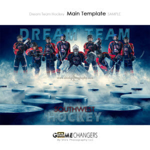Ice Hockey Sports Team Poster Banner Creative Dream Fog Digital Background Photoshop Template Ideas Photographers