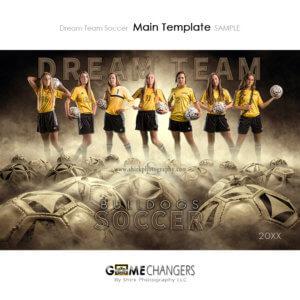 Soccer Football Sports Team Poster Banner Creative Dream Fog Digital Background Photoshop Template Ideas Photographers