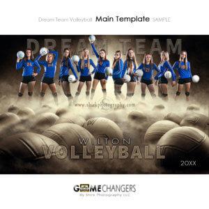 Volleyball Sports Team Poster Banner Creative Dream Fog Digital Background Photoshop Template Ideas Photographers