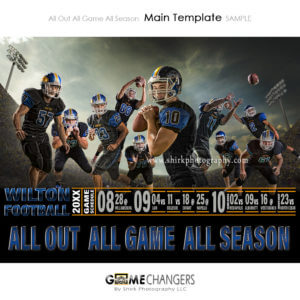 Sports Team Poster Banner Creative Digital Background Photoshop Template Ideas Photographers