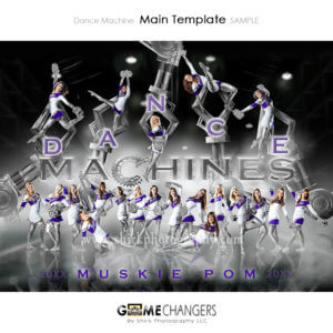 Cheer Pom SportsMate : Dance Machine Photoshop Template for Photographers