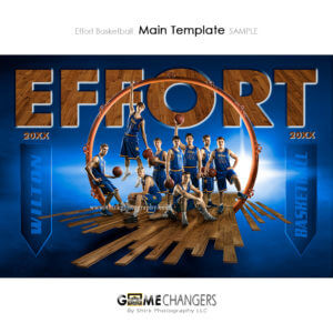 Basketball : Effort Photoshop Template for Photographers
