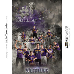 Mountain Wrestling Sports Team Photoshop Template: Digital Background for Photographers