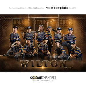baseball team sports poster banner for photoshop