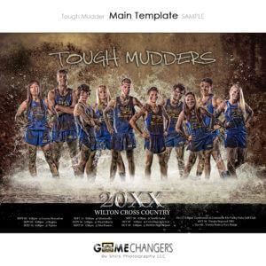 Water Splash Track Sports Team Photoshop Template: Digital Background for Photographers