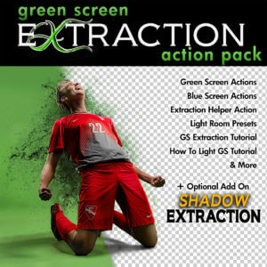 Green Screen Extraction Action for Photoshop Fast Easy Quick Precise Background and Shadows Removal Soccer