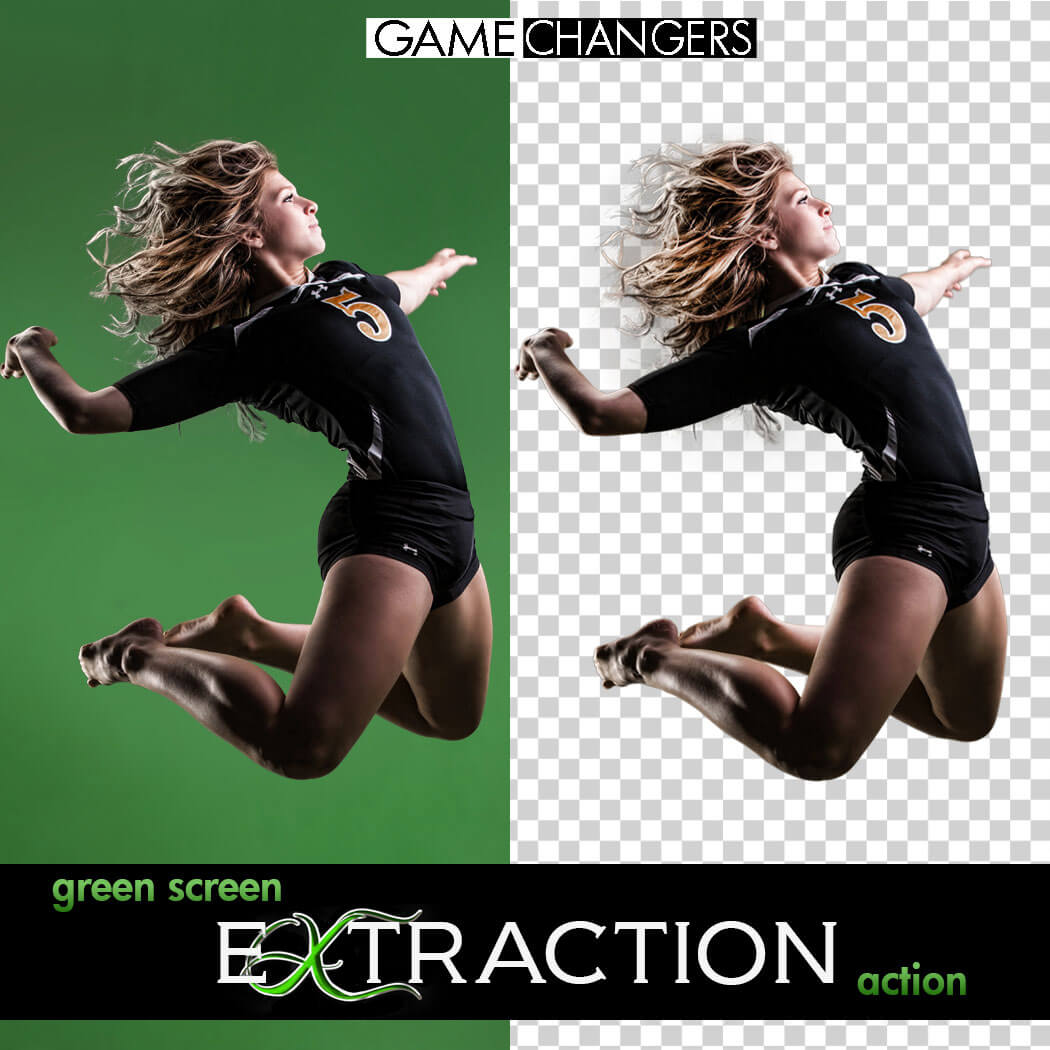 Green Screen Extraction Action Pack For Photoshop New Option Shadows Game Changers By Shirk Photography Llc