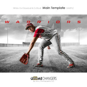 baseball photoshop team poster with baseball field background