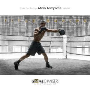boxer senior portrait photoshop template