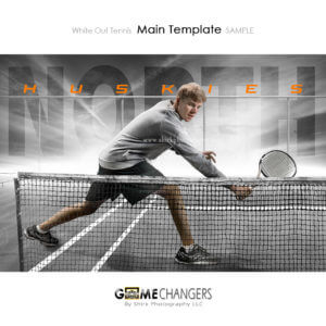 tennis individual photoshop digital background white out