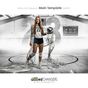 volleyball individual photoshop digital background white out