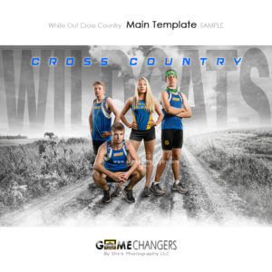 cross country group team photoshop digital background white out